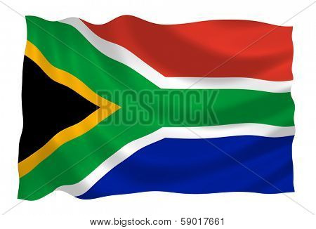 poster of Flag of South Africa waving in the wind