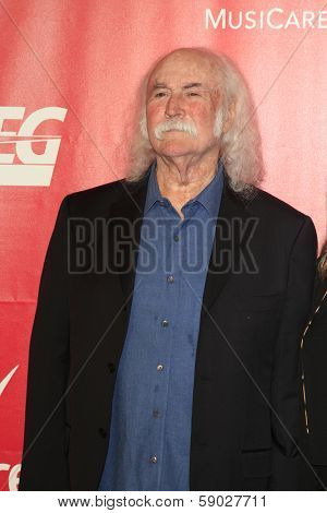 LOS ANGELES - JAN 24:  David Crosby at the 2014 MusiCares Person of the Year Gala in honor of Carole King at Los Angeles Convention Center on January 24, 2014 in Los Angeles, CA