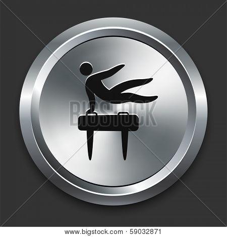Pommel Icon on Metallic Button Collection