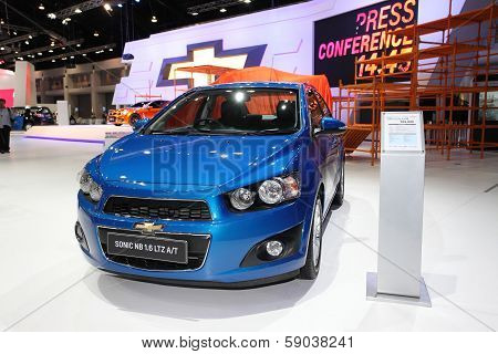 Nonthaburi - November 28:chevrolet Sonic Nb 1.6 Car On Display At The 30Th Thailand International Mo