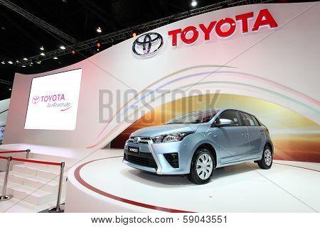 Nonthaburi - November 28: Toyota Yaris Car On Display At The 30Th Thailand International Motor Expo