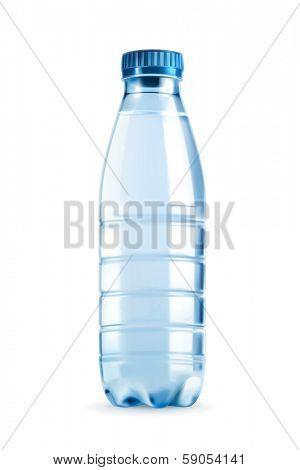 Water bottle vector object