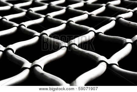 Prison fence - shallow depth of field
