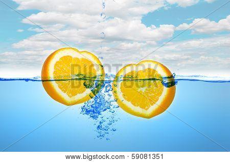 Heart Shape Of Orange