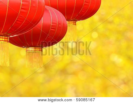 Red lantern for Chinese new year decoration