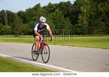 Triathlete Cycling