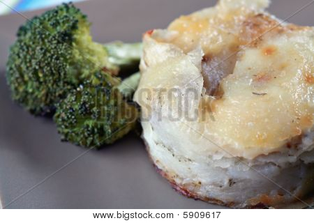 Potatoes Au Gratin And Broccoli