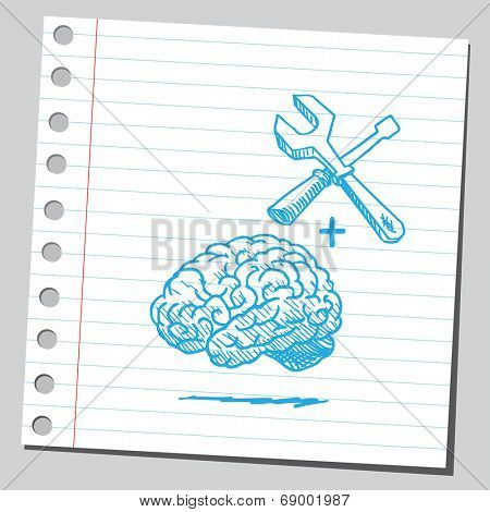 Brain with tools