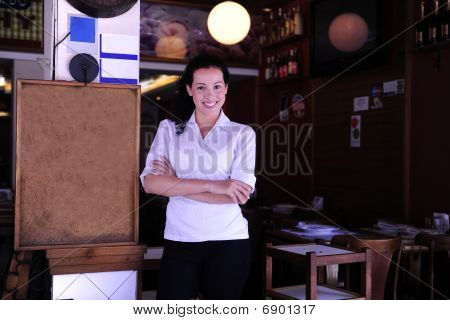Happy Owner Of A Restaurant