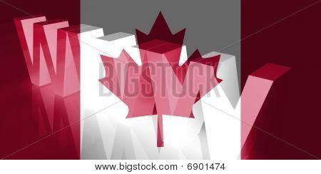 Flagge von Kanada Www Internet