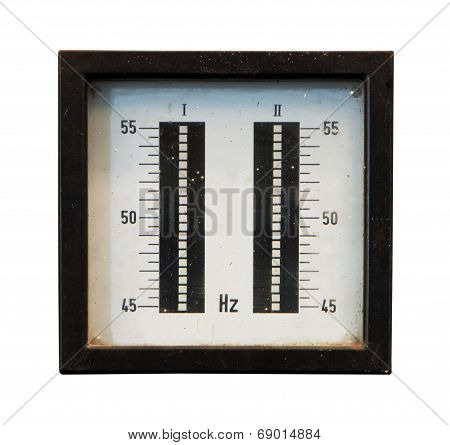 Old Meter Isolated On A White Background
