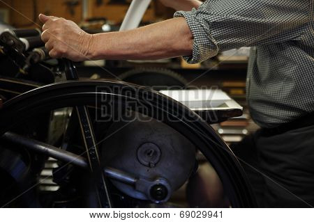 Printer At Letterpress