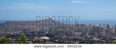 Diamond Head Crater And Honolulu