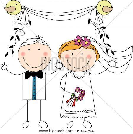 Doodle Wedding Couple