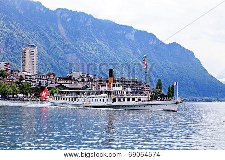 Cruise Boat La Suisse On Lake Geneva