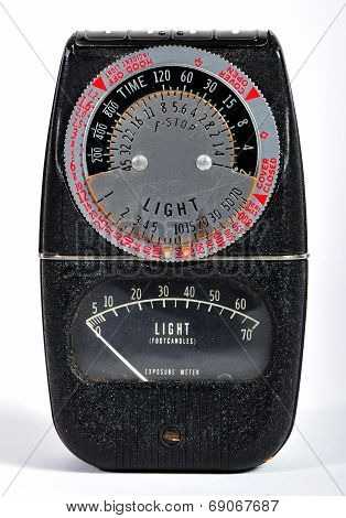 Vintage photo light meter