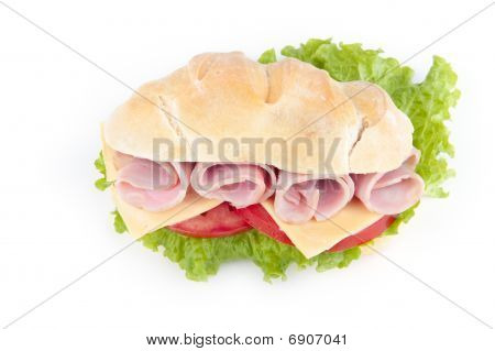 Delicious Cheese And Ham Sandwich