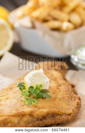 Fried Plaice With French Fries