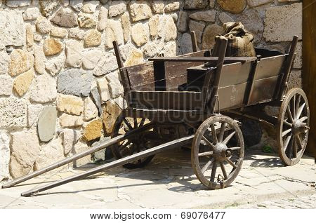 Vintage Wooden Dray