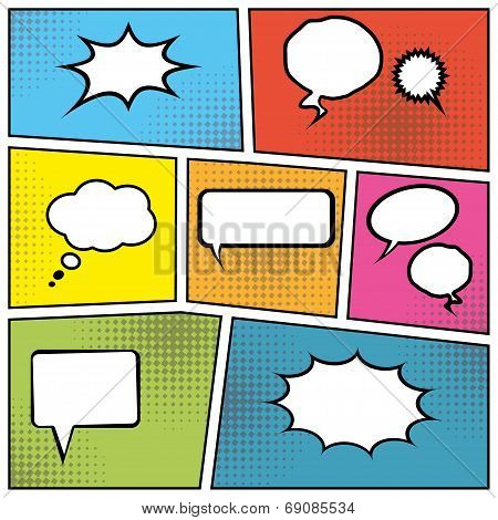 Blank Speech Bubbles
