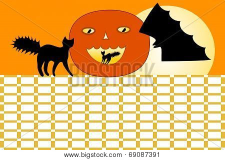 Orange Halloween timetable