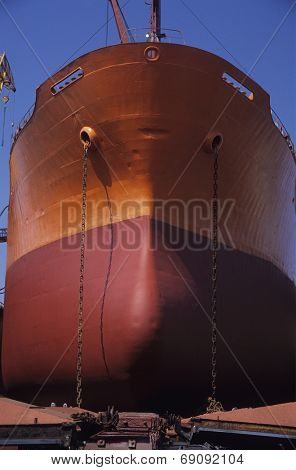 Ship in Drydock