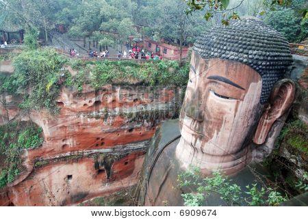Leshan Giant Buddha In Mt.emei Of China