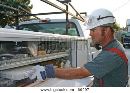 Electrician On Service Call