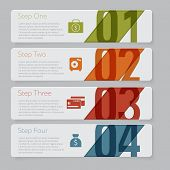 Infographic. Design number banners template graphic or website layout. With icon poster