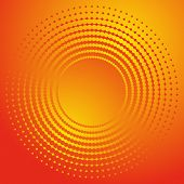 Beautiful orange abstract background with circle halftone effect poster
