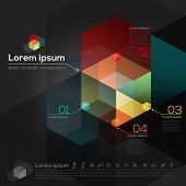 Hexagon Geometric Shape Abstract Graphic Design Template Layout poster