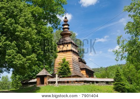 Wooden Orthodox Church In Kotan, Poland