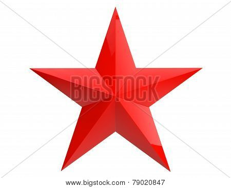 Closeup Red Star