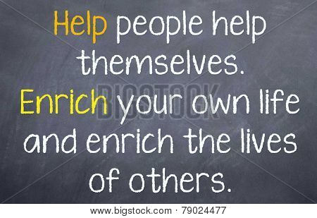 Help People Help Themselves