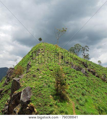 Mountain Scenery In Sri Lanka