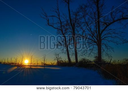 Dark Winter Sunset