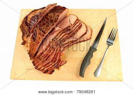 Backed Peace Spiral-cut Ham Ready For Meal Serving