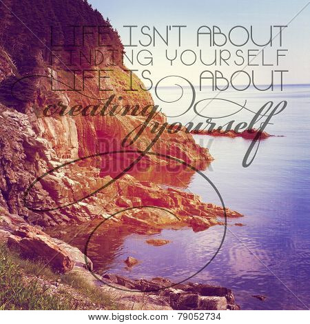 Beautiful Instagram Of Scenic Coast Line With Quote