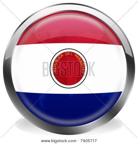 button flag of paraguay