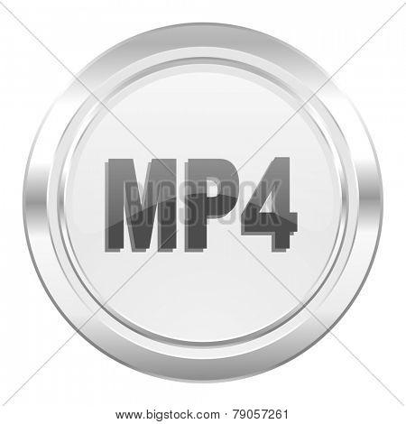 mp4 metallic icon