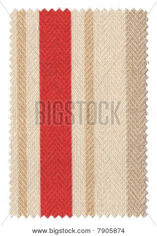 Red/BrownStriped Fabric Swatch