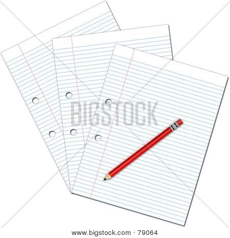 Pencil And Blank Paper