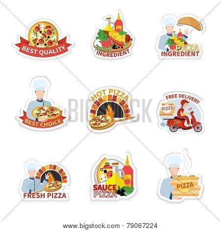 Pizza Label Set
