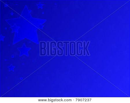 Blue Patriotic Stars