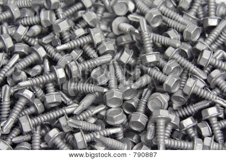 Pile of self drilling screws