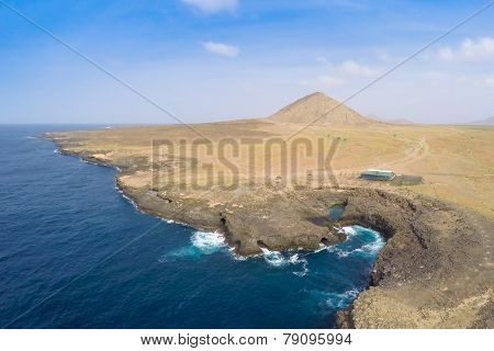 Aerial view of Buracona in sal Island Cape Verde - Cabo Verde poster