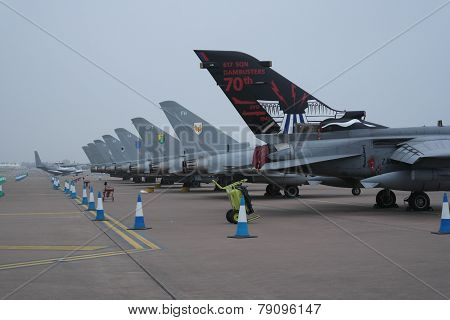 Tails of fighter jets