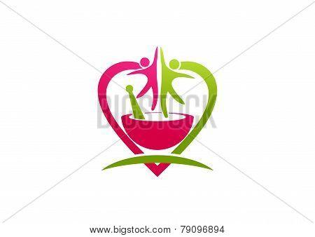 abstract pharmacy vector logo design