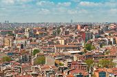 The roofs of Istanbul Panorama in Turkey poster