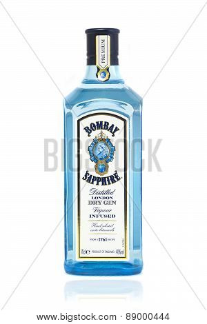 Bottle Of Bombay Sapphire Gin